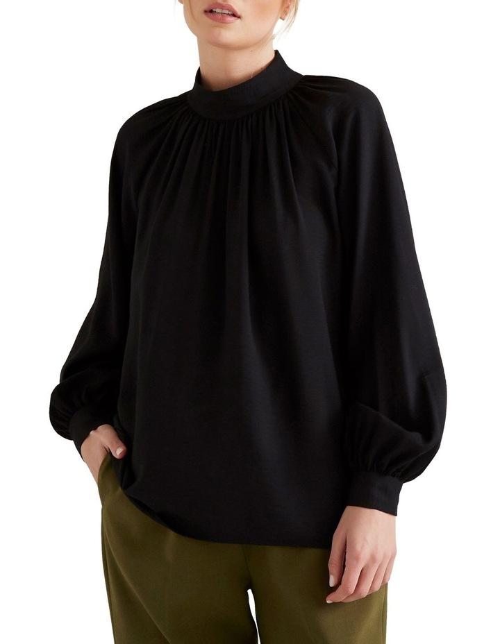 High Neck Blouson Shirt image 1