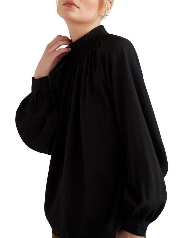 High Neck Blouson Shirt image 4