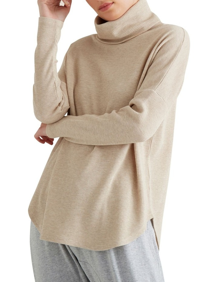 Roll Neck Waffle Top image 4