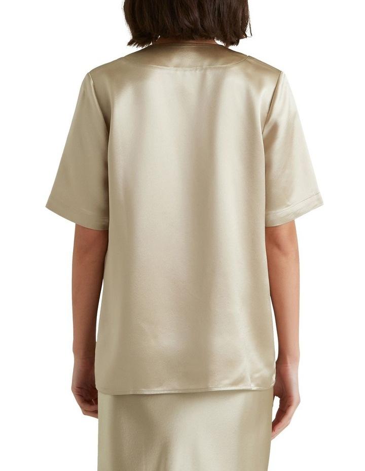Longline Satin Shirt image 2