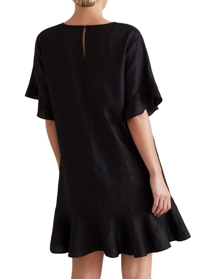Linen Flutter Sleeve Dress image 3