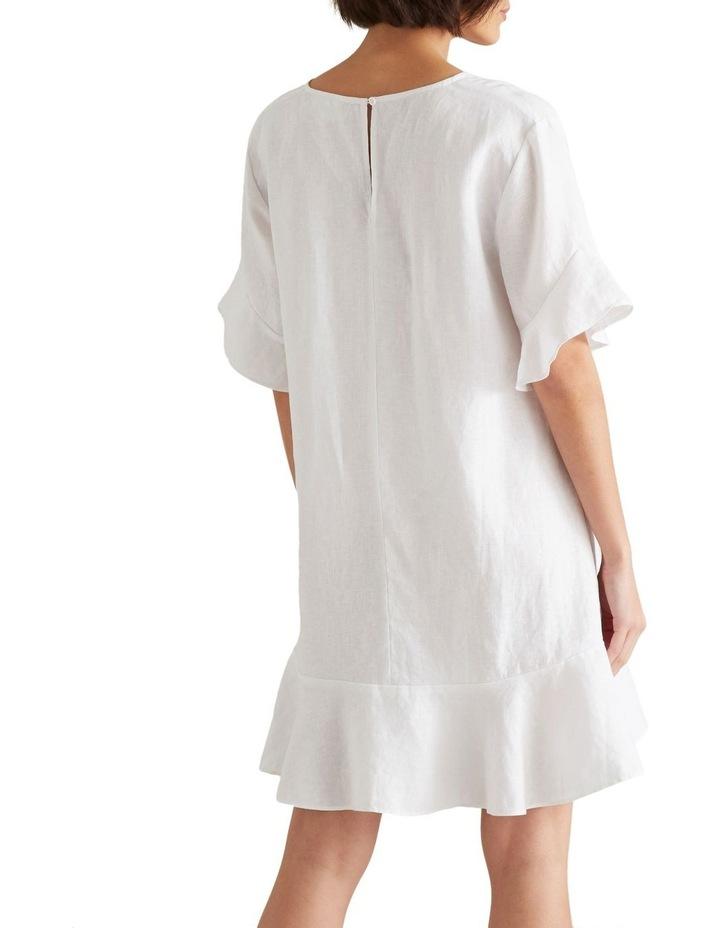 Linen Flutter Sleeve Dress image 3