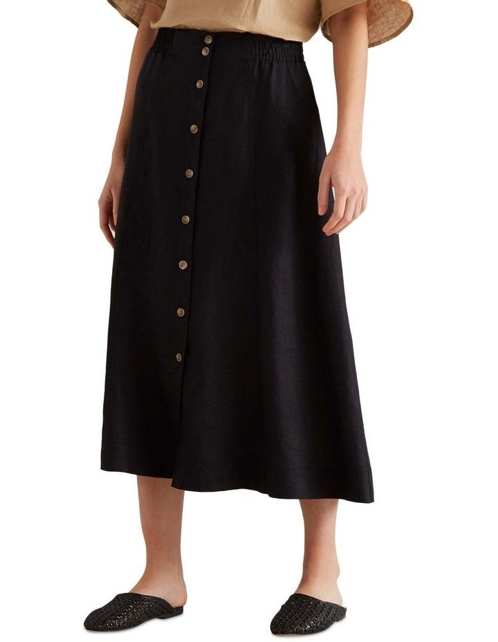 Linen Flowing Skirt image 1