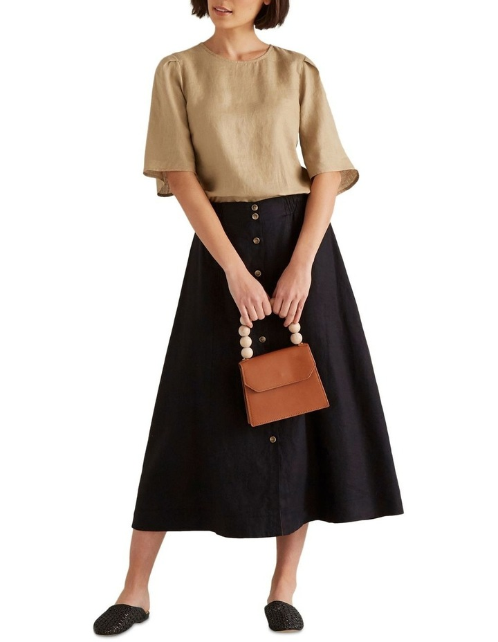 Linen Flowing Skirt image 3