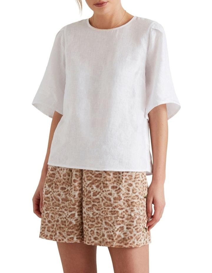 Flutter Sleeve Linen Top image 1