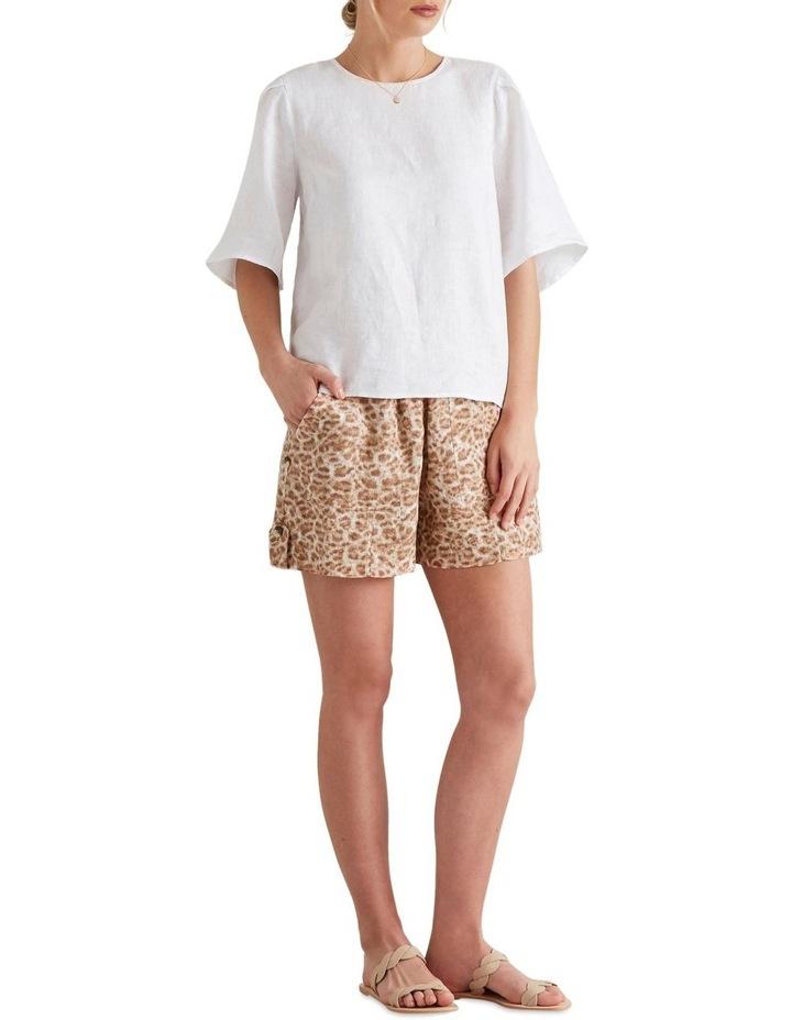 Flutter Sleeve Linen Top image 3