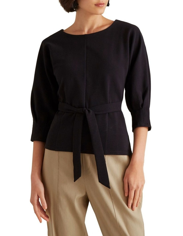 Linear Textured Tie Top image 1