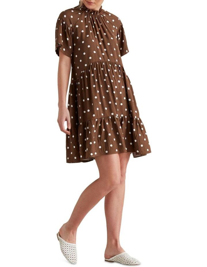 High Neck Spotty Dress image 2