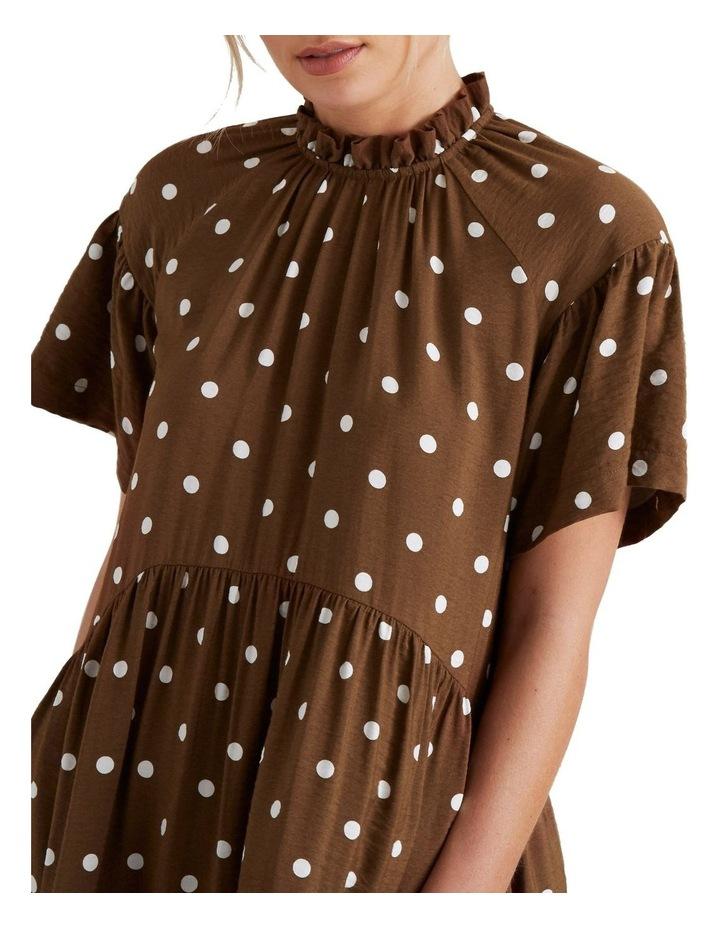 High Neck Spotty Dress image 4