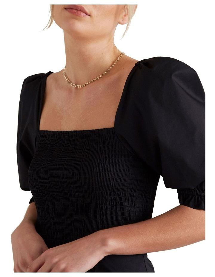 Shirred Balloon Sleeve Dress image 4