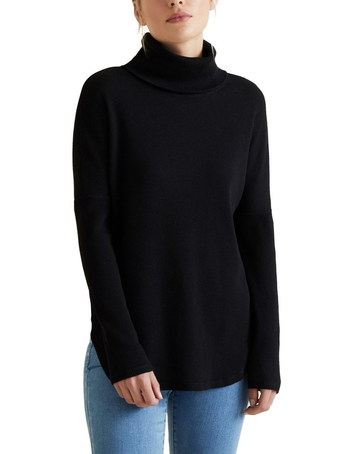 Roll Neck Waffle Top image 1