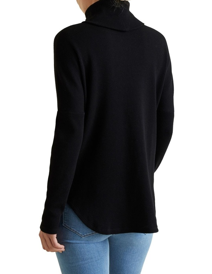 Roll Neck Waffle Top image 3