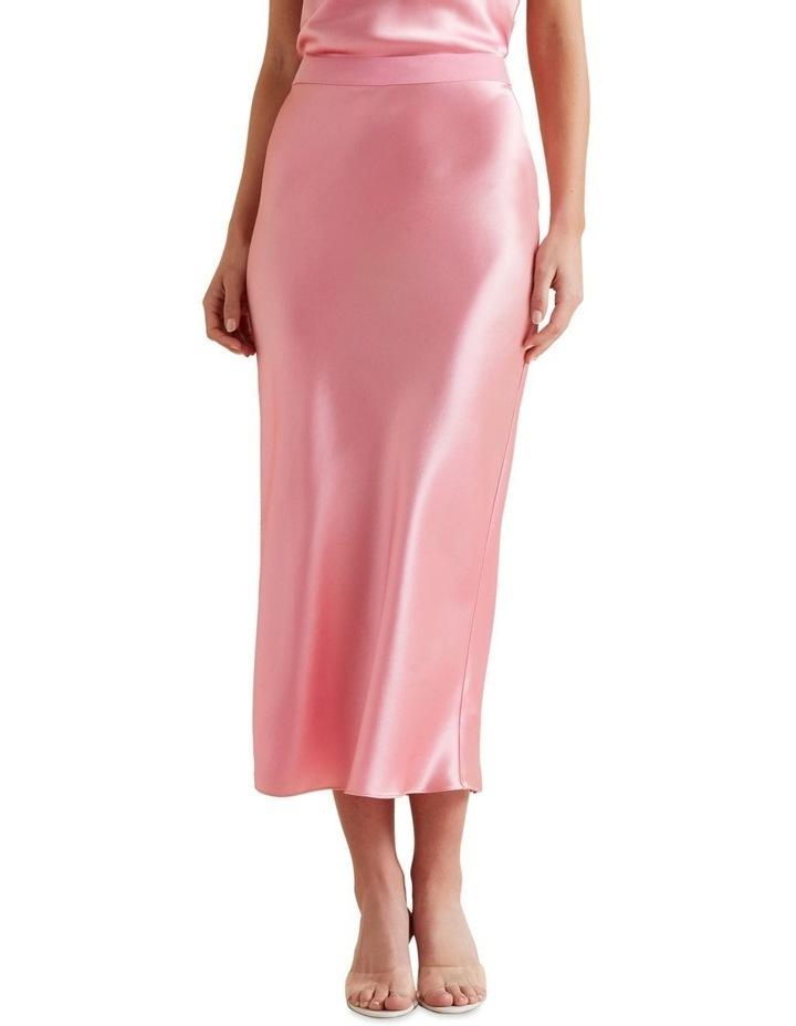 Satin Midi Skirt image 1