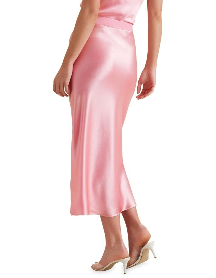 Satin Midi Skirt image 3