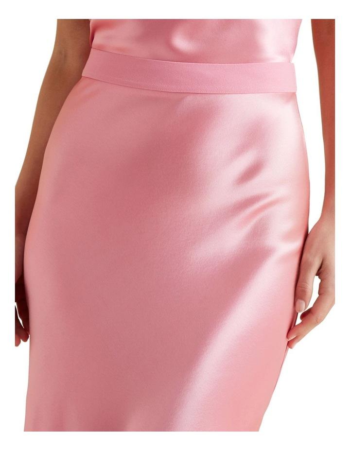 Satin Midi Skirt image 4