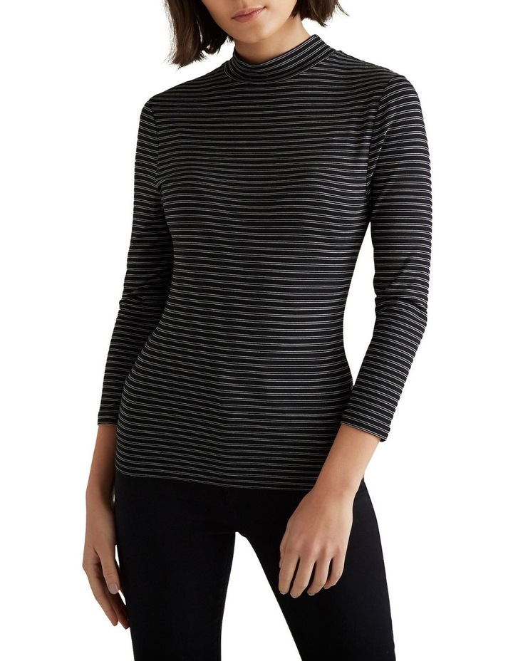 3/4 Sleeve High Neck Top image 1