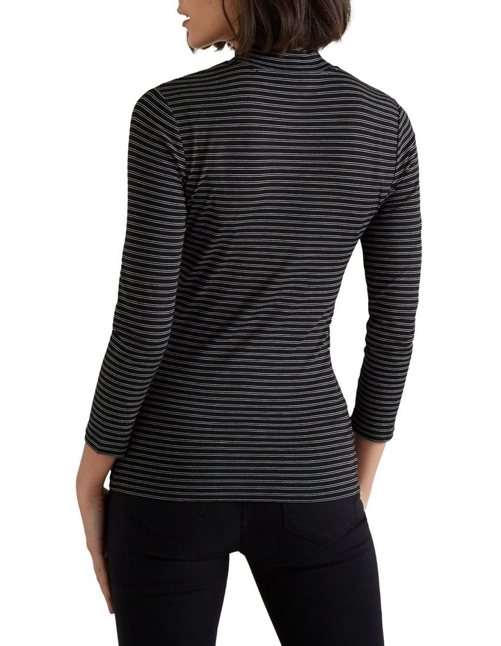 3/4 Sleeve High Neck Top image 3