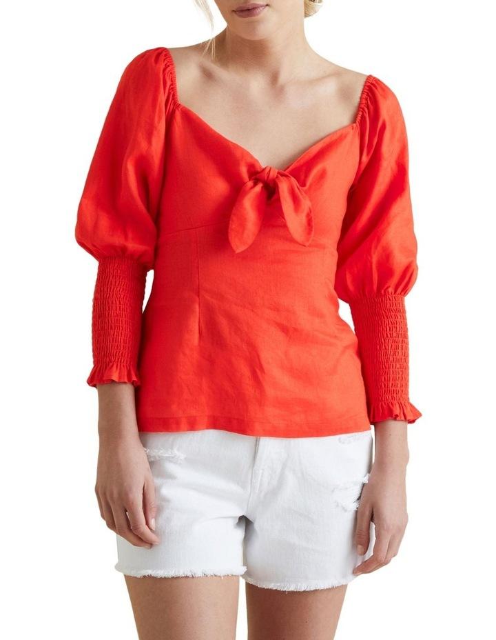 Bow Front Linen Blouse image 1