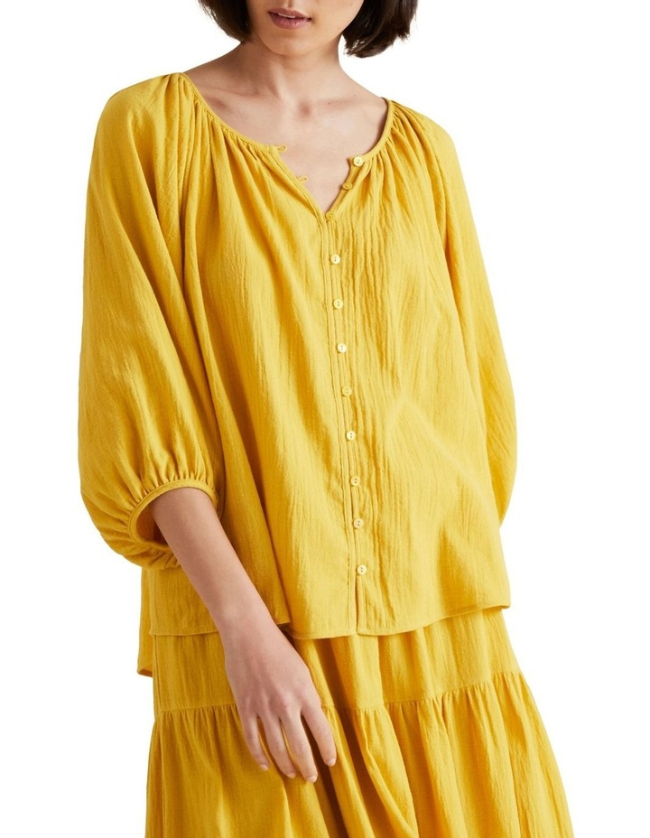 Button Down Crinkle Blouse image 1