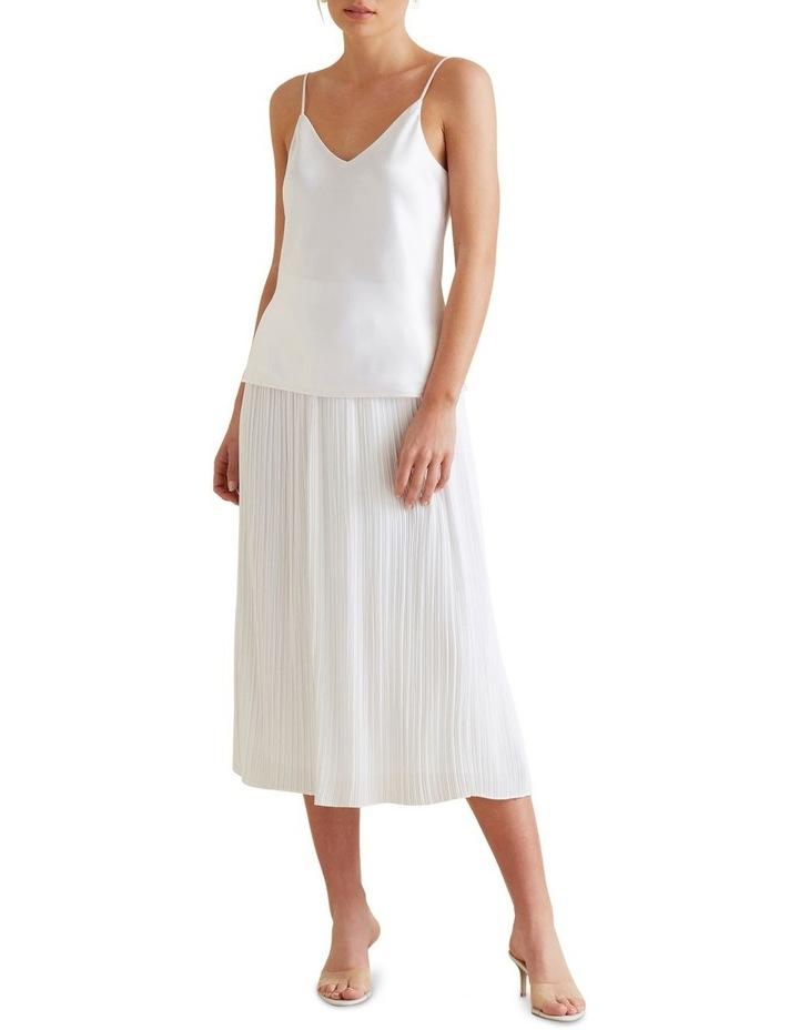 Midi Micro Pleat Skirt image 2