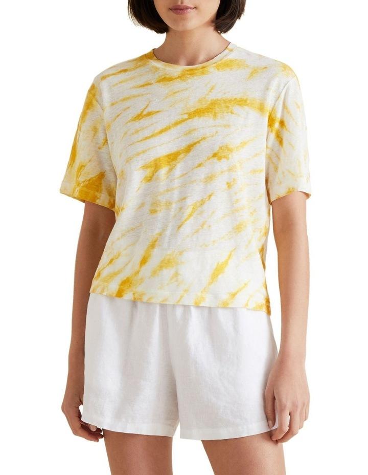 Tie Dye Linen Tee image 1