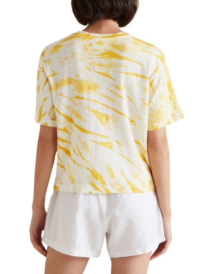 Tie Dye Linen Tee image 3