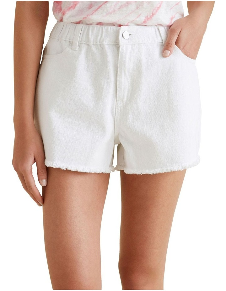 Elastic Waist Denim Short image 1