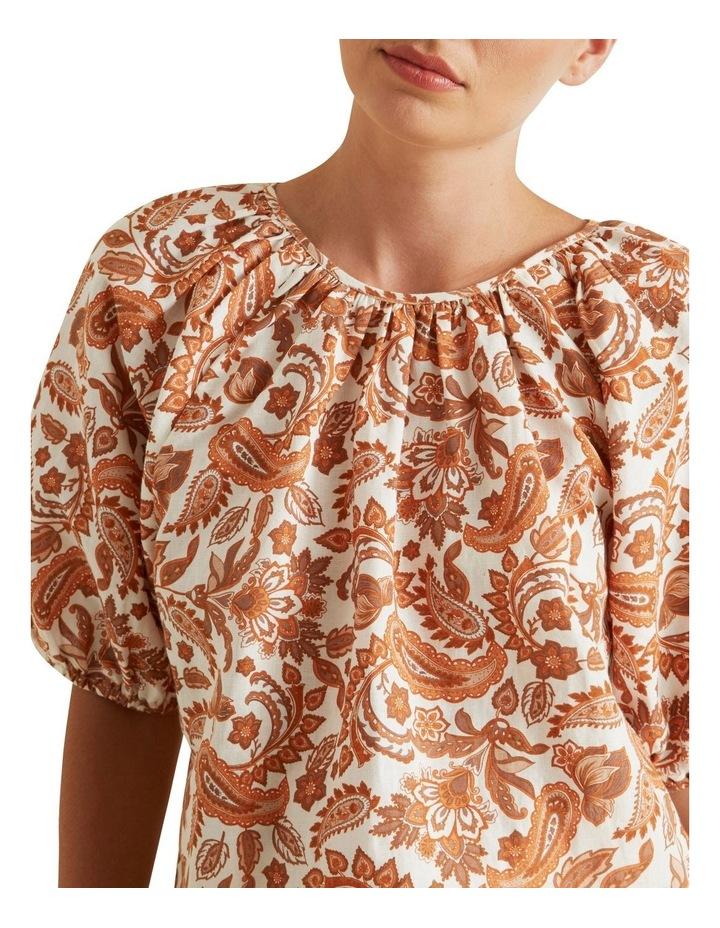 Paisley Linen Blend Blouse image 4