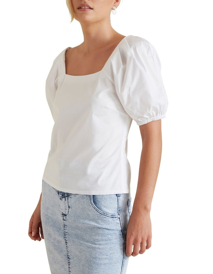 Puff Sleeve Fitted Blouse image 1