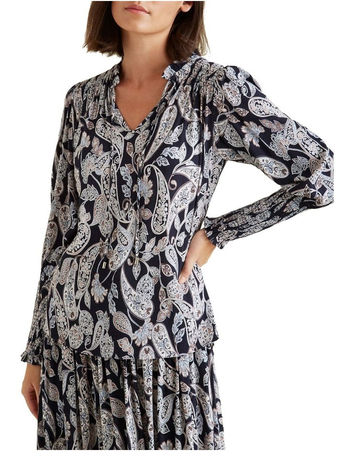 Paisley Shirred Blouse image 1