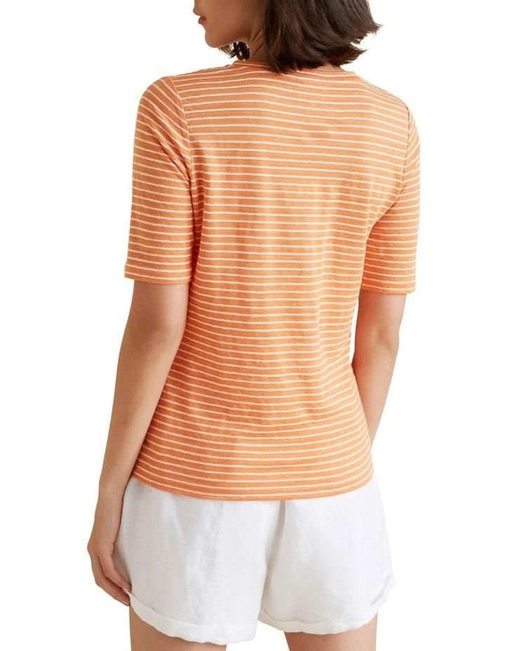 Henley Linen Stripe Top image 3
