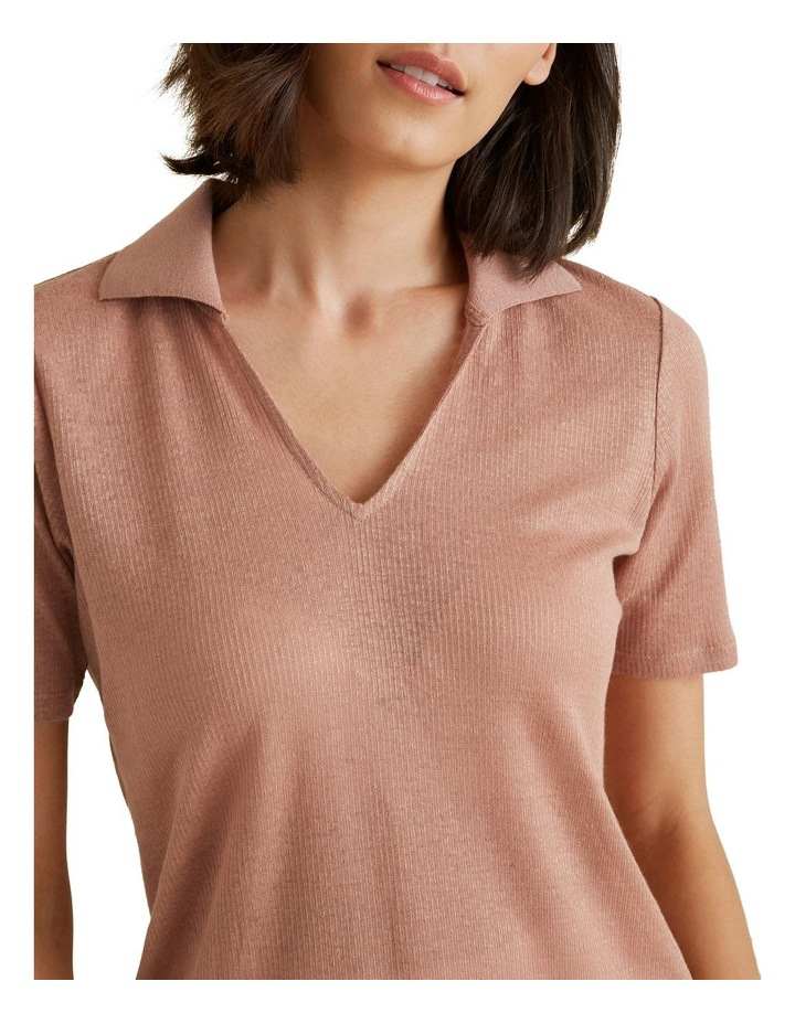 Collared Linen Rib Top image 4