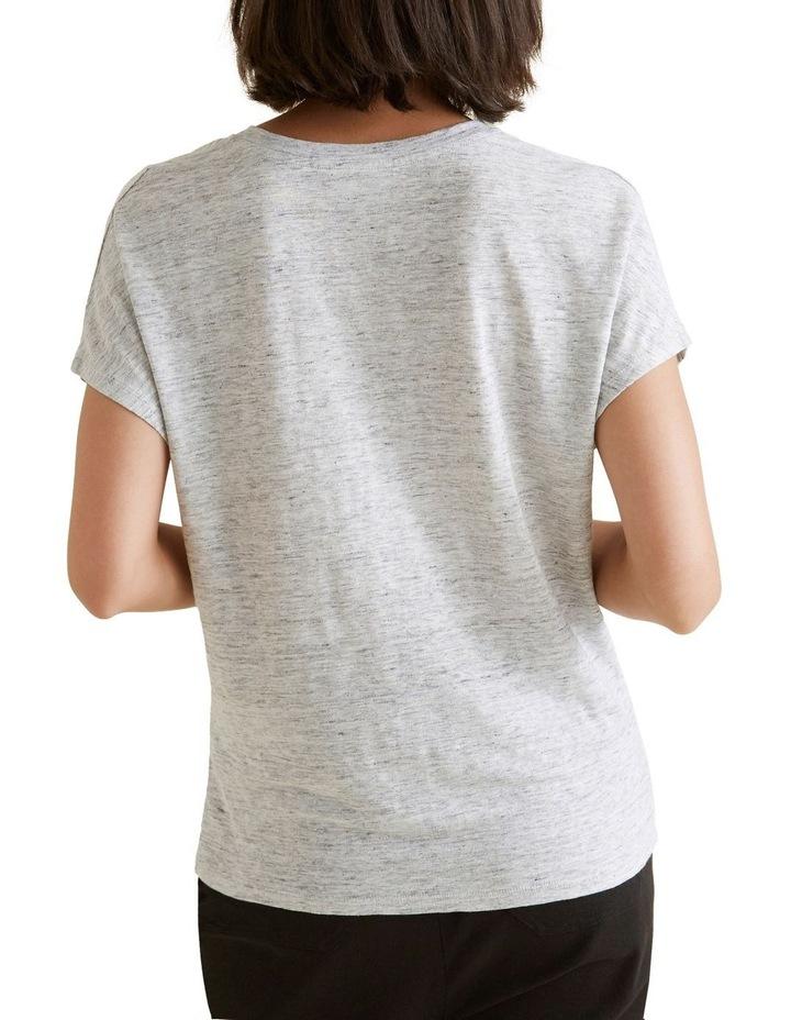 V Neck Linen Top image 3