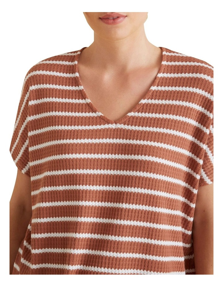 V Neck Textured Tee image 4