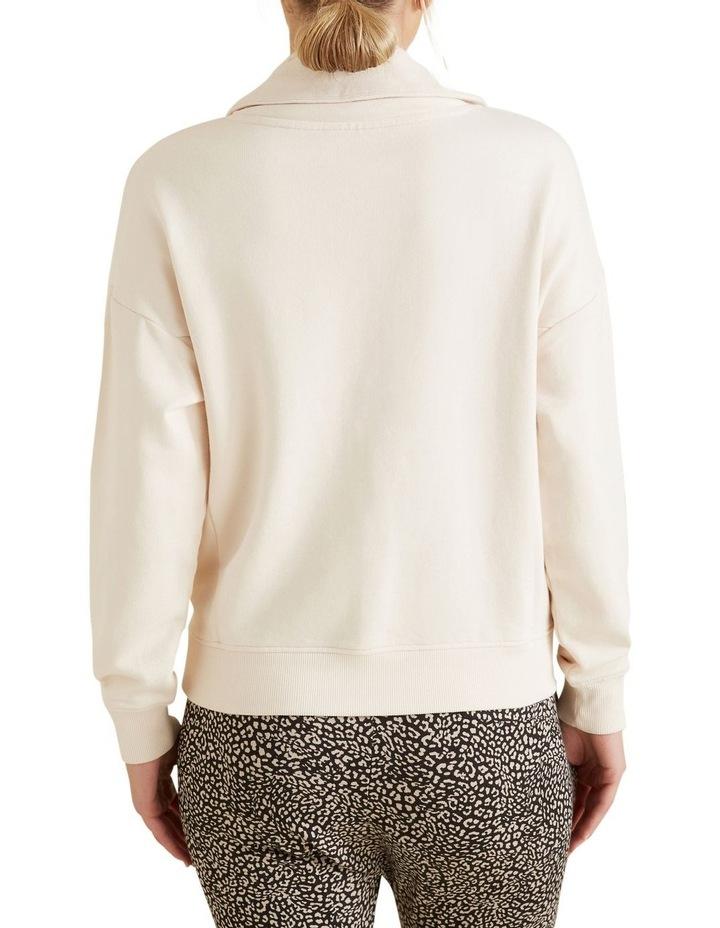 Zip Detail Terry Sweater image 3