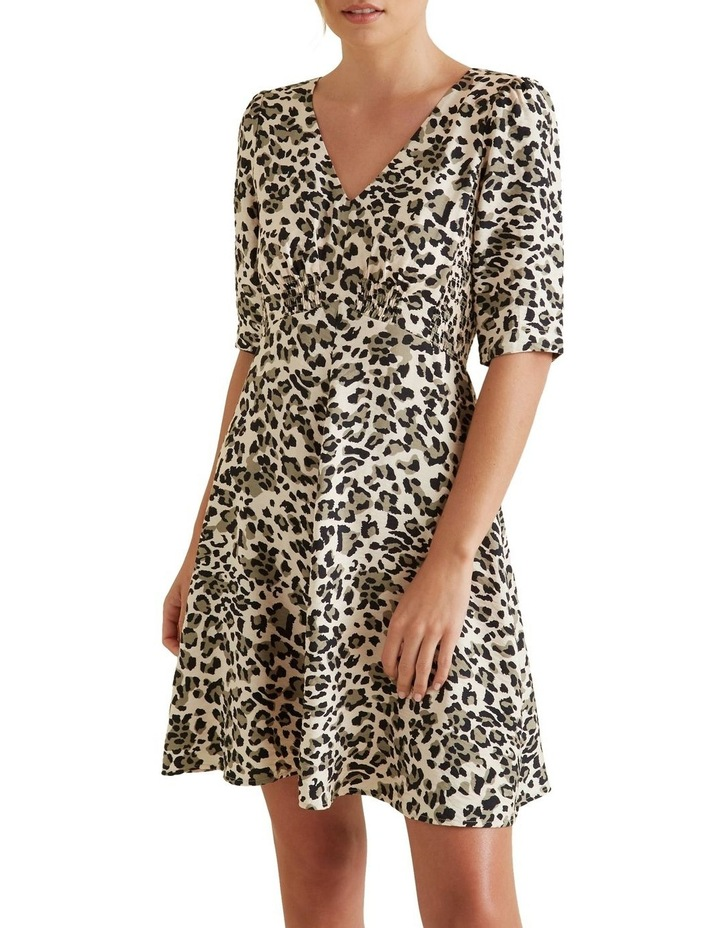 Mini Shirred Animal Dress image 1
