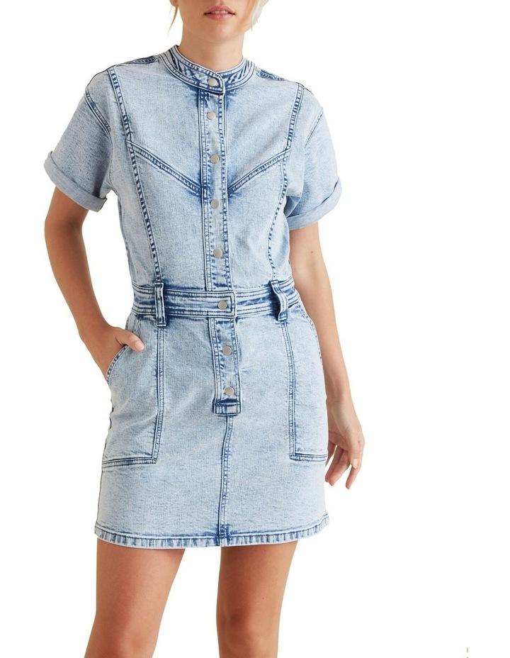 Acid Wash Denim Dress image 1