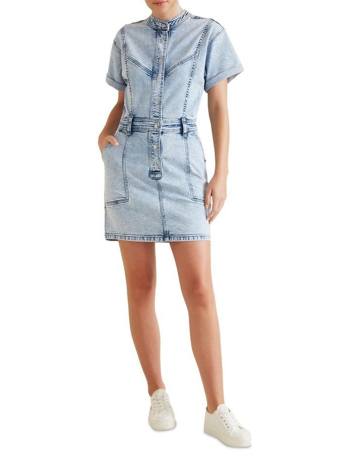 Acid Wash Denim Dress image 2