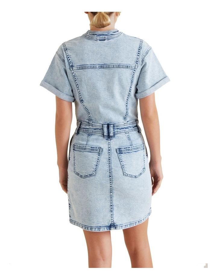 Acid Wash Denim Dress image 3