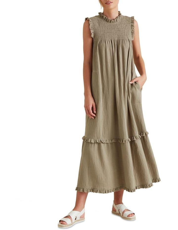 Shirred Crinkle Dress image 1