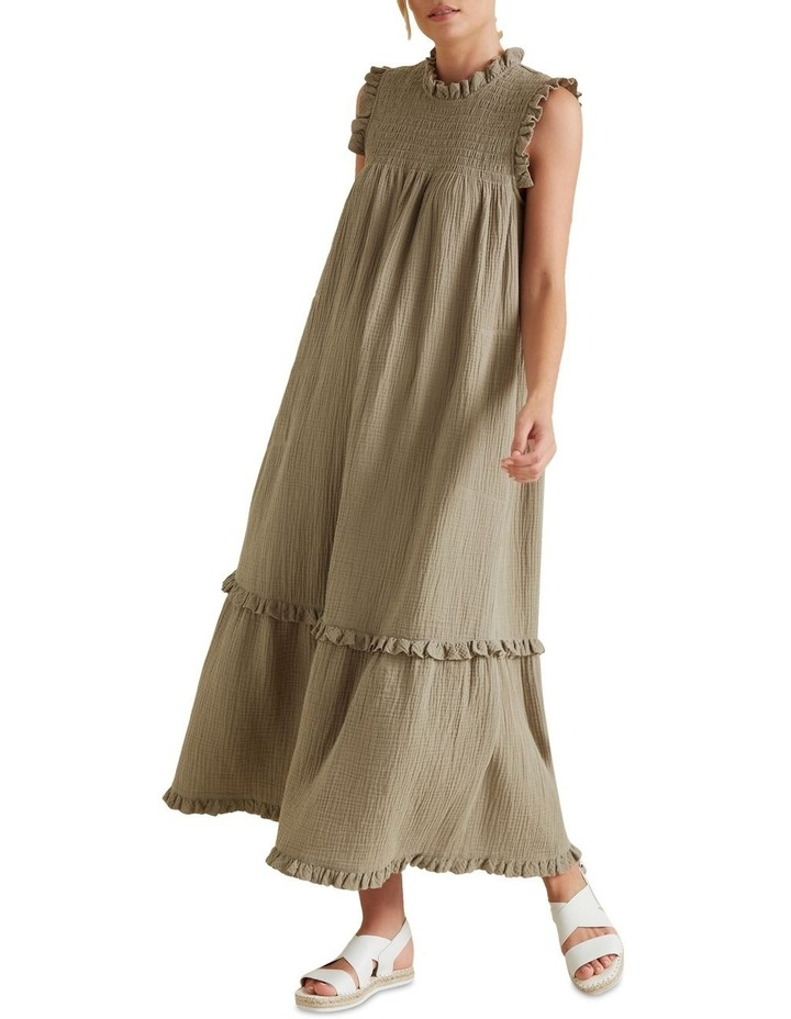 Shirred Crinkle Dress image 2