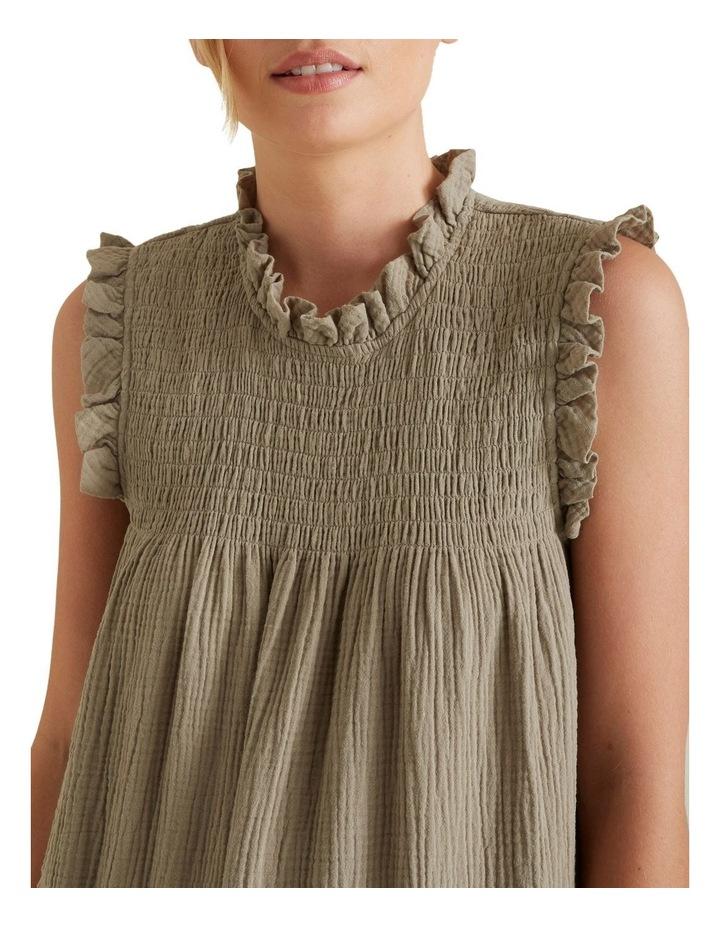 Shirred Crinkle Dress image 4