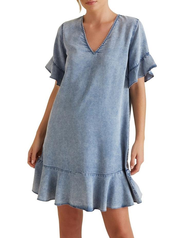 Flutter Sleeve Tencel Dress image 1