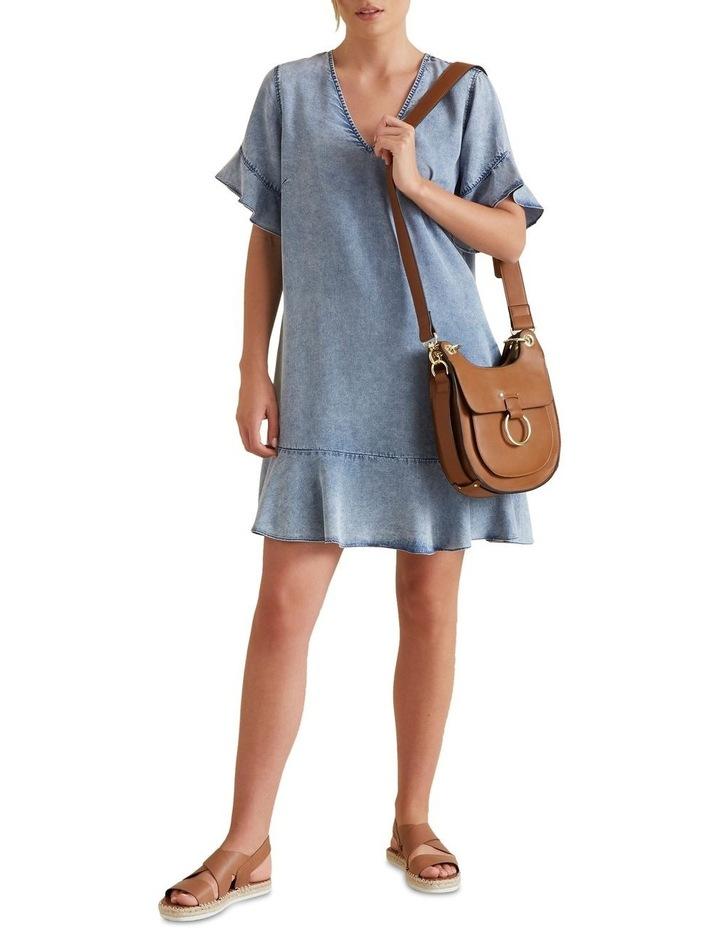 Flutter Sleeve Tencel Dress image 2