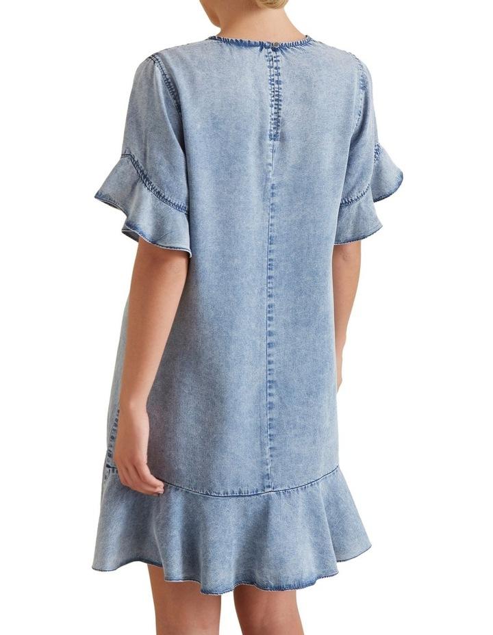 Flutter Sleeve Tencel Dress image 3