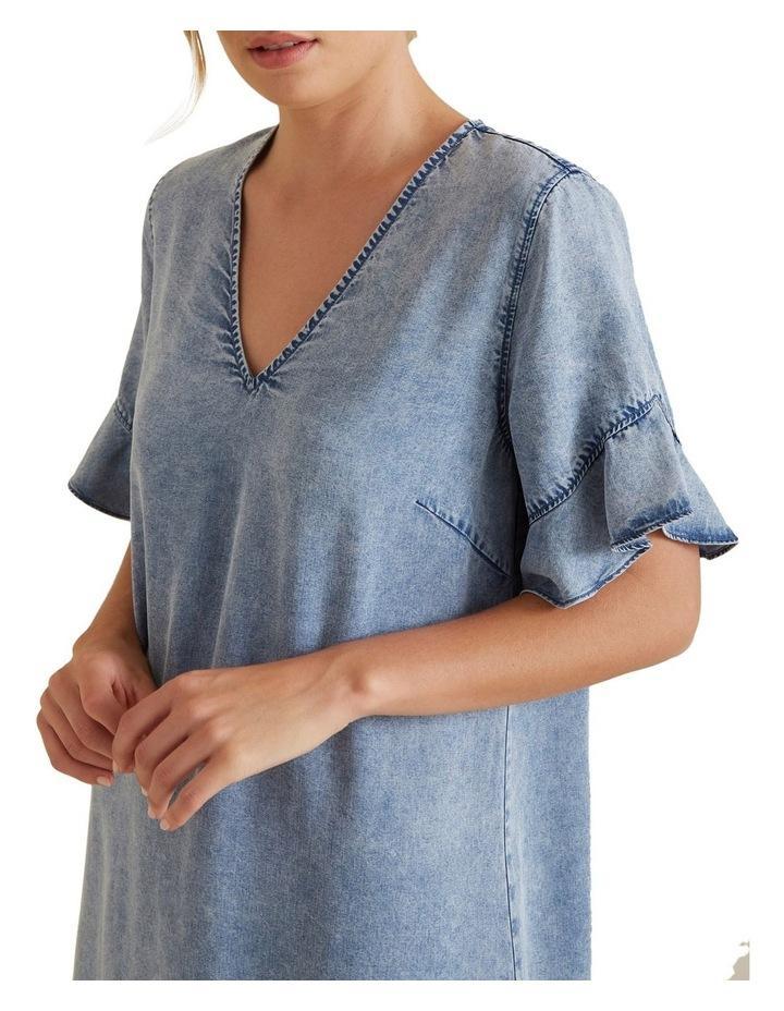 Flutter Sleeve Tencel Dress image 4