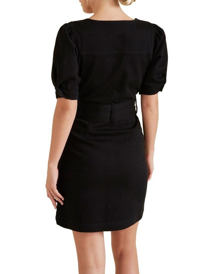 Mini Tie Up Denim Dress image 3