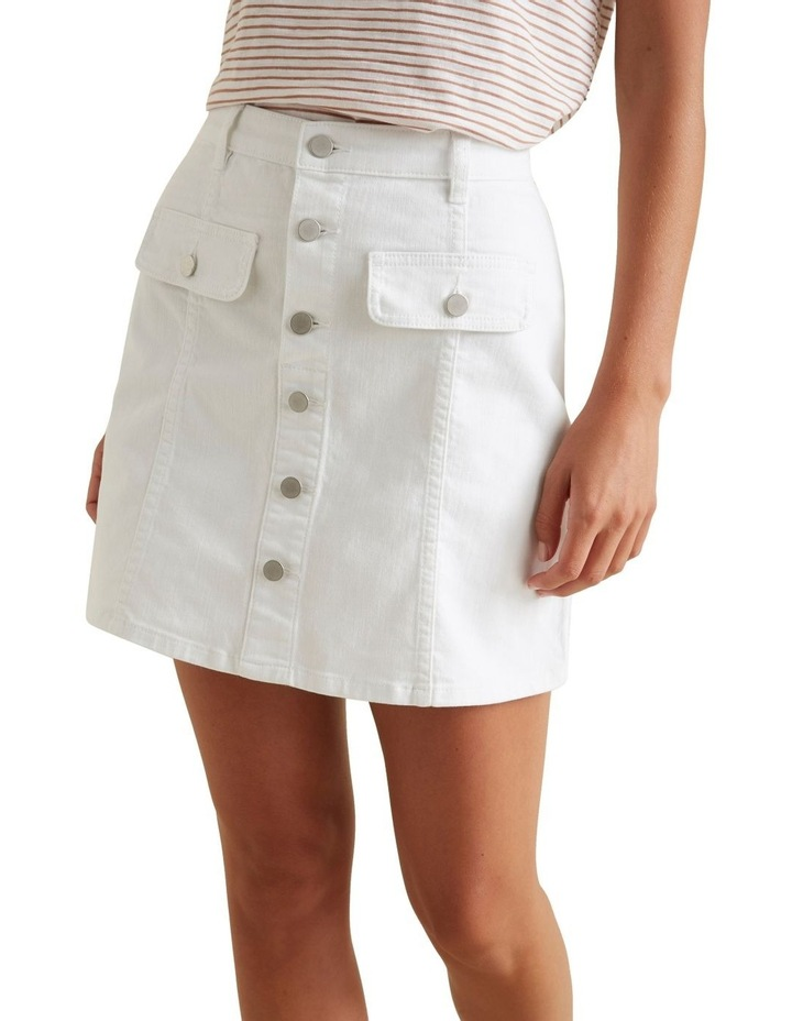 Button Front Mini Skirt image 1