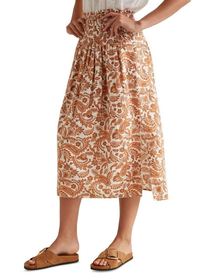 Shirred Paisley Skirt image 1