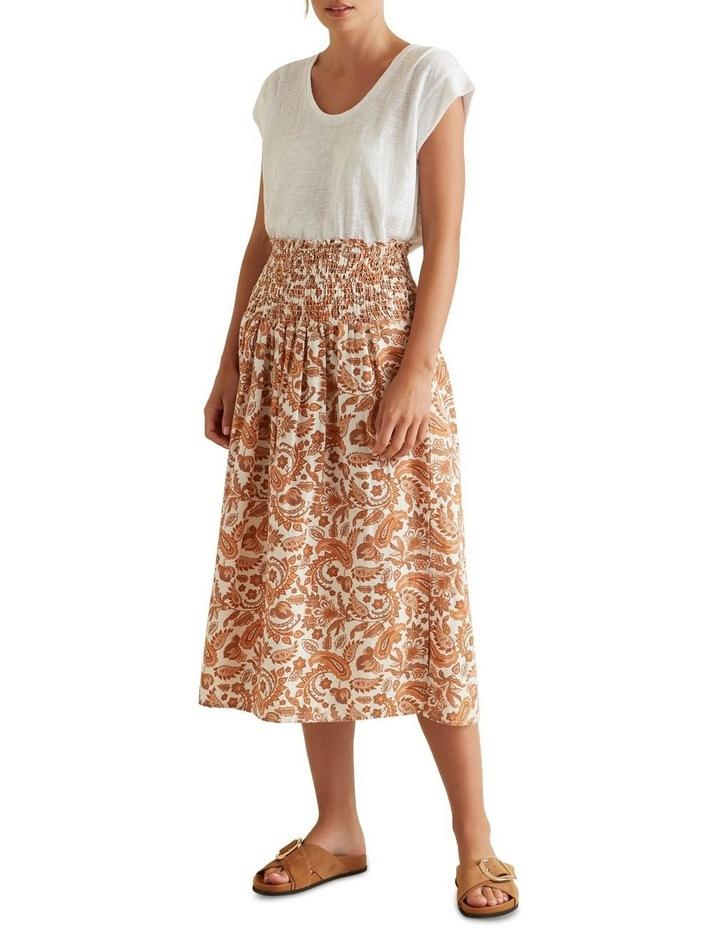 Shirred Paisley Skirt image 2